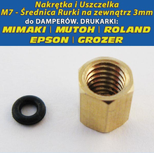 10 pcs Copper Thread O-ring for roland/mimaki/mutoh Damper tube ( 10% off for 2 lots )(China)