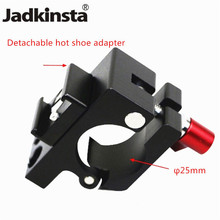 Jadkinsta 2in1 25mm Rod Clamp Holder For DJI Ronin MX Camera Stabilizer Light Mount Stand Bracket + Hot Shoe Adapter(China)