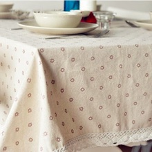 High Quality Table Cloth Daisy Cotton Linen Tablecloth Table Cloths Dining Table Cover Desk Towels Home Textile