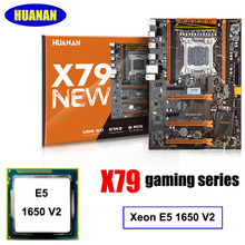 Building computer HUANAN deluxe X79 LGA2011 gaming motherboard CPU combos processor Xeon E5 1650 V2 support 64G memory(China)