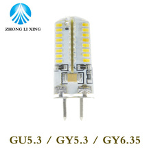 Buy 5pcs/lot led gu5.3 220v 3014 64 72 120V smd led g5.3 220v crystal Light chandelier Spotlight bulb 220v gy6.35 led 220v g5.3 for $6.57 in AliExpress store