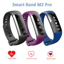 SOROPIN M2 Pro Smart Bracelet Blood Pressure Oxygen Heart Rate Monitor Fitness Smartband For Sports VS Xiaomi Mi Band 2 Fitbit(China)