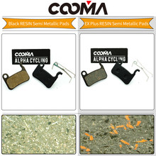 COOMA's Disc Brake Pads For SHIMANO SLX M665, Deore LX T665, M585, Hone M601, Deore M596, M595, M535, Alfine S501; 1 Pair Resin(China)