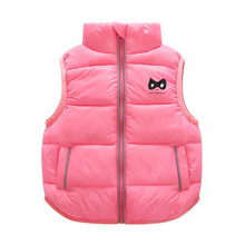 BibiCola Baby Girl Clothes Toddle Cotton Vest Clothes Bebe Girls top Winter Toddler& Infant Girls Coat Kids Vest Outerwear