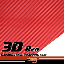 "Buy RED Carbon Fiber Vinyl Film 3D Sticker AUTO Bumper Fender Body Hood DECAL CAR motorcycle 10cm x 127cm 4""x50"" for $3.19 in AliExpress store"