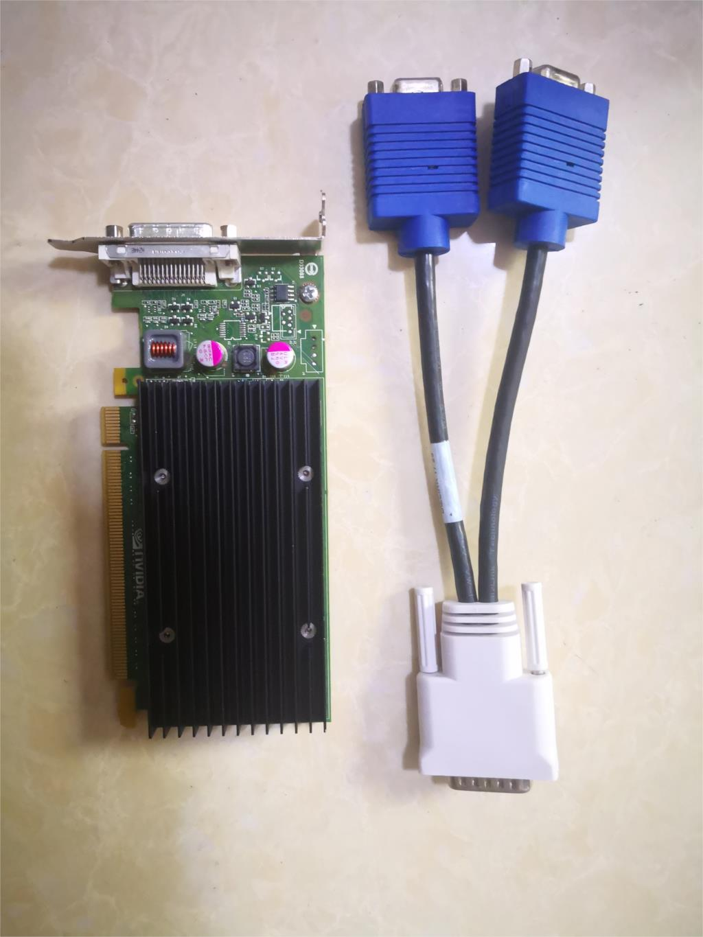 90%New NVS300 X16 BV456AA 625630-001 632827-001 Graphics card  with VGA adapter cable title=