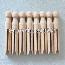10 x Natural wood dolly peg Traditional Dolly Style Wooden Clothes Pegs New Good Condition Wedding party decoration(China)