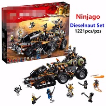 New Ninjago Bricks Dieselnaut Set Model Ninja hunted car Compatible lego 70654 Building Blocks Best Boys Gift Toys Kids
