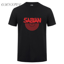 Sabian Men T Shirt New Cool Printed Short Sleeve Cotton The Music Men T Shirts Top Tees Clothing High Quality OT-356(China)