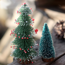 PVC XMAS Christmas Tree Craft Kawaii Automobile Dashboard Decoration Ornaments Home DIY Decor Car Styling Accessories Gifts(China)