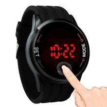 2017 New Mens Watch Silicone Strap Touch Screen LED Digital Watch Men Sport Watch Waterproof Display Time Date