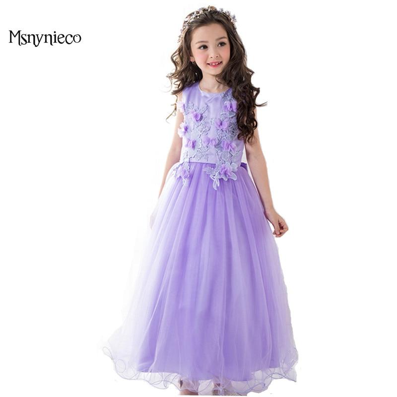 Girl Christmas Dress Elegant Girl Party Dresses 2018 Brand Summer Girls Sleeveless tutu Birthday Wedding Dresses Kids Clothes<br>