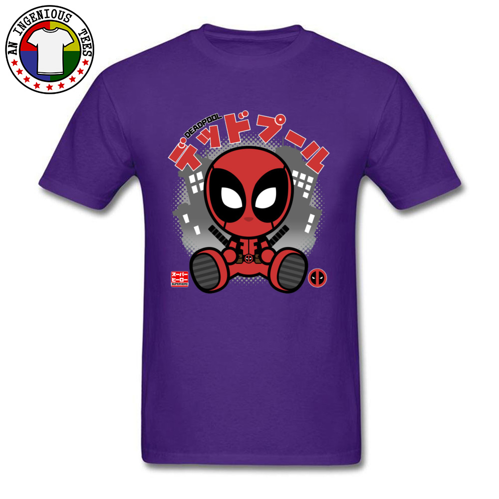 Deadpool Chibi 1226 T-Shirt Graphic Short Sleeve Casual Pure Cotton Crewneck Mens Tops T Shirt Customized Tshirts Summer Deadpool Chibi 1226 purple
