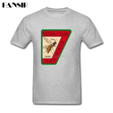 Fashion Tshirts Male Vespa Scooter Men Tshirts White Short Sleeve Custom Family Clothes(China)