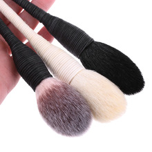 Fashion Women Pro Kabuki Flat Contour Blusher Powder Foundation Eye Shadow Face Makeup Brushes Nature Goat Hair Cosmetic Tools