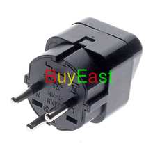 5 x ISRAEL Palestine Travel Plug Adapter Universal Outlet Israeli 3 Pin Grounded Plug Adaptor 10A 250V