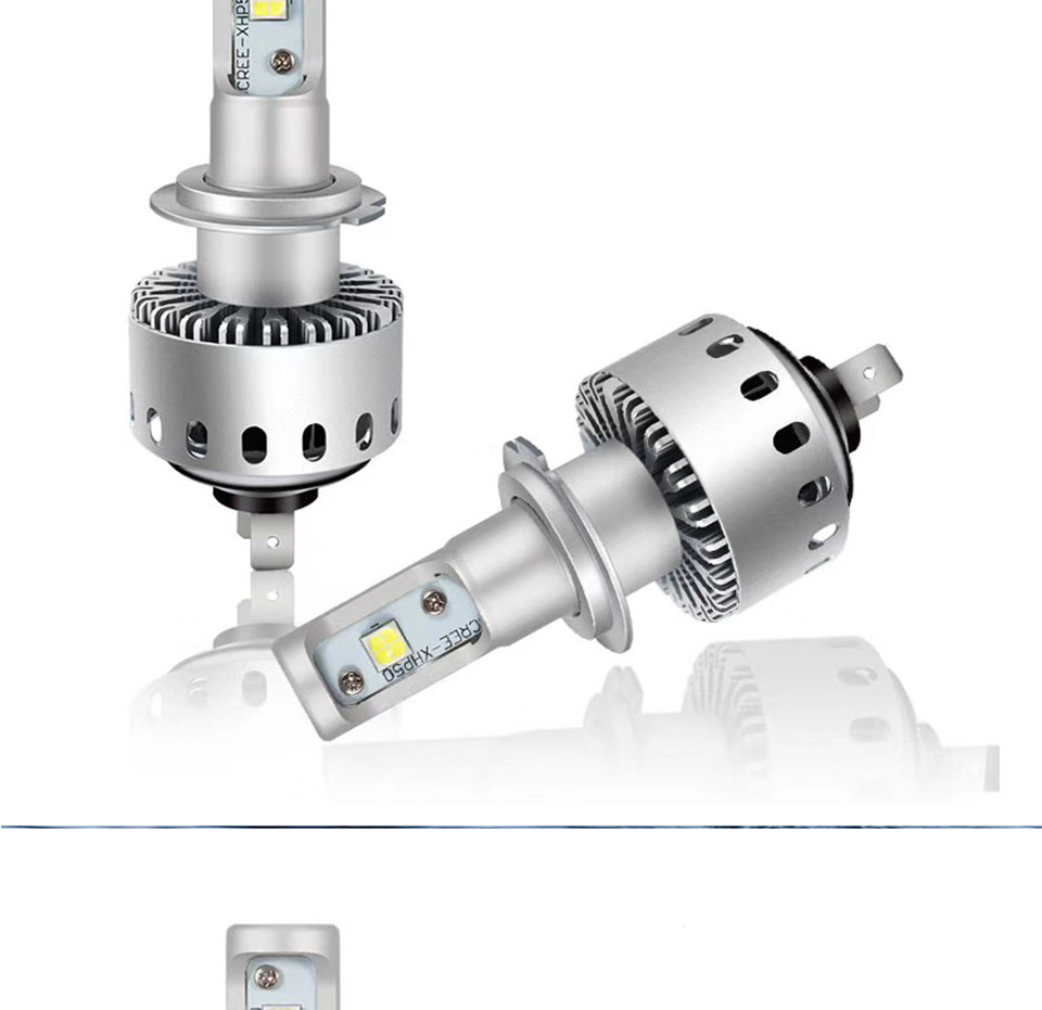 COOLEEON LED Car Lights H1 H4 H7 H11 9005 9006 Auto Headlamp Bulbs 12V 24V Cars Headlights 80W CREE LED Chips 6000K White Lamp (7)