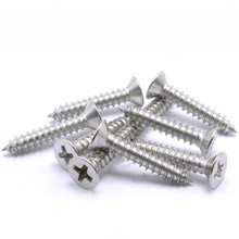 1pack M4 Stainless steel Self-tapping screws phillips Screws counter-sunk wood screws M4*8/10/12/14/16/18/20/25/30mm size(China)