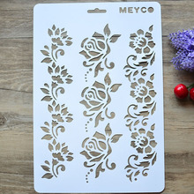 DIY Craft  Flower  Layering Stencils For Walls Painting Scrapbooking Stamping Stamps Album Decorative Embossing Paper Cards