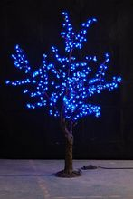 1.5M 5ft Blue  LED Simulation Cherry Blossom tree Light outdoor Christmas Wedding Garden Holiday Decor 480 LEDs waterproof