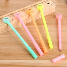 1pcs Candy color student neutral pen rub easy to wipe the neutral pen lovely bear the magic friction water pen office tools