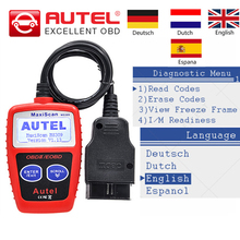 Autel MaxiScan MS309 CAN BUS OBD2 Code Reader OBD 2 OBDII Car Diagnostic Tool Autel MS309 MS 309 auto Scanner Multi-language(China)