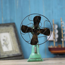 Antique style resin old electric fan model retro home decoration crafts furnishing articles studio photography props