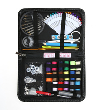 91 PCS Sewing Thread Coil Buttons Set Crochet Hooks Needles Stitches Needle Safty Pin Craft Case Travel Sewing Kit Accessories