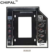 "CHIPAL Universal SATA 3.0 2nd HDD Caddy 9.5mm for 2.5"" 1TB SSD Case Hard Disk Drive Enclosure for Laptop ODD CD-ROM Optical Bay"