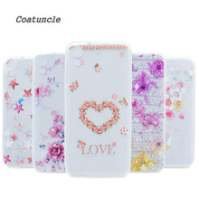 Transparent Soft Silicone TPU Phone Case For HTC Desire 626 626G 626D 626W Back Cover rose Dandelion Painted Pattern For HTC 626(China)