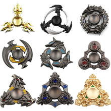 Hot Selling EDC Toys Triangular Hand Spinner High Quality Metal Profession Genji Spinner ADHD Tri Spinner Cool Fidget Spinner