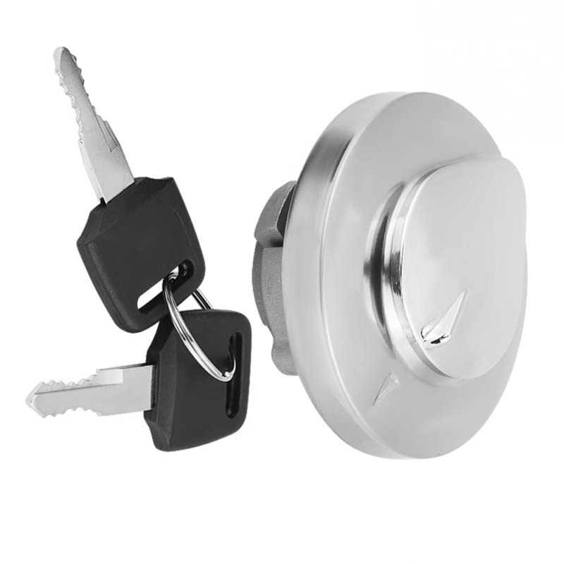 Acouto Silver Motorcycle Fuel Gas Cap Tank Cover with 2 Keys for Spirit VT750 DC C2 VLX VT600