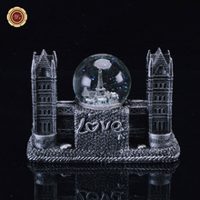 WR Unique Decorative Crafts American Twin Towers Snow Flake Crystal Ball Home Decoration Gifts Worth Collection