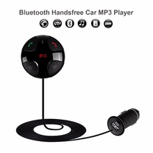 A2DP Bluetooth Handsfree Car Kit Wireless Bluetooth FM Transmitter MP3 Player Car Kit Charger For iPhone6 Samsung Smart Phone