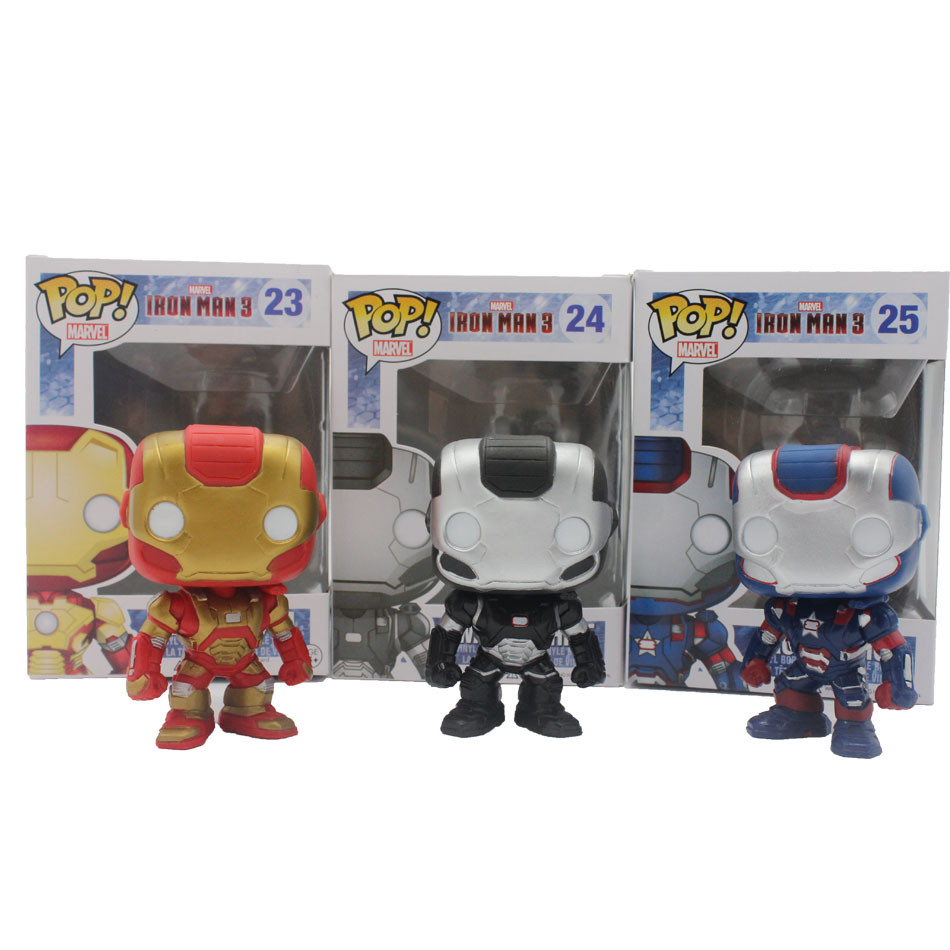 Funko Pop 3Color Marvel Avenger Iron Man Mark VII Anime Hot Movie Vinyl Cute Action Figure Toys PVC Doll Collection Kids Toys<br><br>Aliexpress