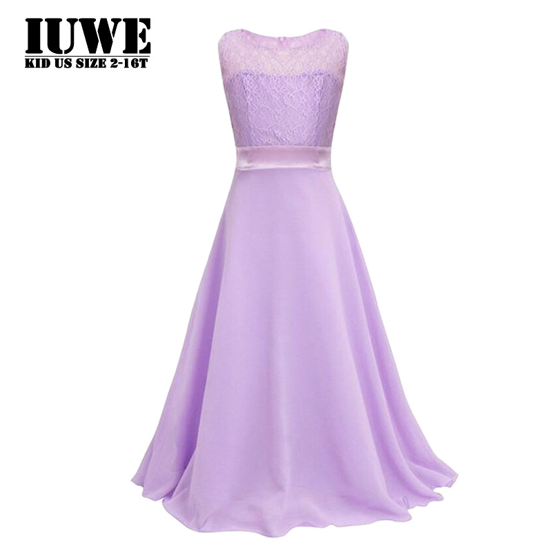 Dresses for Girls 2017 Girls Wedding Dress Purple Ribbons Bow Childs Lace Dress Children Clothing 10 Vestidos Costume for Kids 6<br><br>Aliexpress