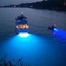 KSOL 3*2w Blue Stainless Steel IP68 Waterproof LED Marine Underwater Light Boat Yacht light