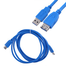 USB 3.0 Cable Super Speed USB Extension Cable Male to Female 1m 1.8m 3m USB Data Sync Transfer Extender Cable(China)