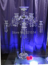 8 Arm Candle Holders Wedding Centerpieces Crystal Bowl Candelabra for New Year Home Decoration(China)