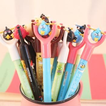 4 Pcs / Pack Cute Brave Bird Ballpoint Pens Novelty Cartoon Pen Plastic Ballpen School Office Stationery Supplies