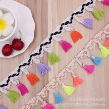 50yards/lot 4.5cm Cotton thread Spot color 4.5CM small ears fringed lace clothing Home Furnishing curtain accessories