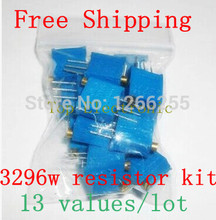 3296W Variable resistor 3296W potentiometer package 3296W potentiometer kit Adjustable resistance kit 100R-1M ecah 1pcs=13PCS