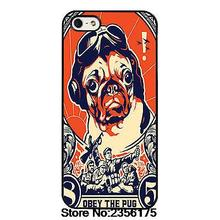 Pug Cute Obey Pet Dog  Phone Case cover for Iphone 4S 5 5S 5C 6 6S Plus 7 7 Plus for Samsung galaxy S3/4/5/6/7 Note
