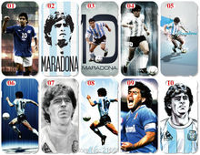 Maradona Football Cover For iphone 5 5S SE 5C 6 6S 7 Plus For Samsung Galaxy A3 A5 A7 A8 A9 J1 J2 J3 J5 J7 2016 Cell Phone Case(China)