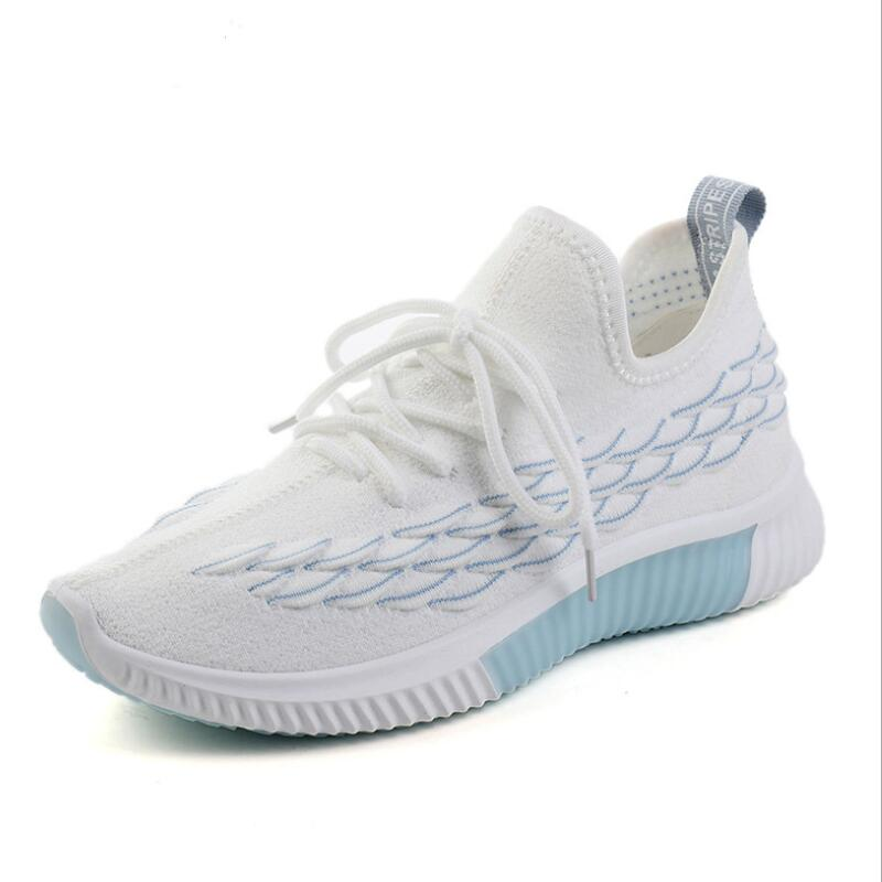 Mens Mesh Casual Shoes Flying Woven Trend Running Shoes Wild Breathable Sports Shoes High Quality Cushion Shoes Men's Casual Shoes Aike Asia Hot
