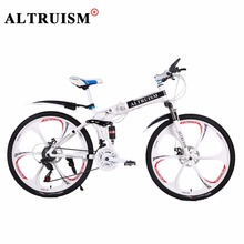 Altruism Road Bikes Folding Bicycles For Mens Unisex Boys Girls X9 21 speed 26 inch Steel Mountain Bike Bicycle Downhill