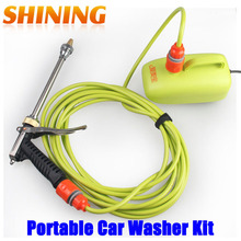 Free Shipping Household Portable 60W High Pressure 12V DC Car Waher Washing Machine Device Car Wash Cleaner Cleaning Kit Suit
