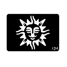 One Piece Mysterious Sun Reusable Airbrush Tattoo Stencil Pochoir Henna Airbrush Stencils For Painting Template T001-124 EE(China)