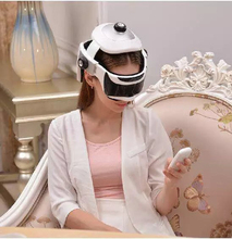 head massager have remote control brain relaxing scalp massage eye and head 2 in1 airbags Intelligent air pressure electric