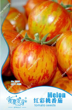 Original packaging tomato seeds red color peach tomato bonsai red cherry tomato biji, balcony fruits vegetables - 25 pcs(China)